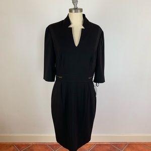 Tahari Arthur Levine Black Zipper Dress